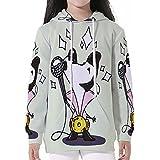 Cotton Pullover Hoodies,Elvis Presley Decor,Cute Musician Cartoon Dog Dressed as