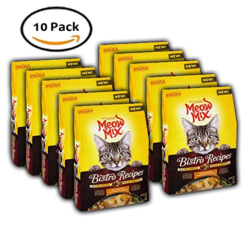 PACK OF 10 - Meow Mix Bistro Recipes Rotisserie Chicken Flavor, 48.0 OZ
