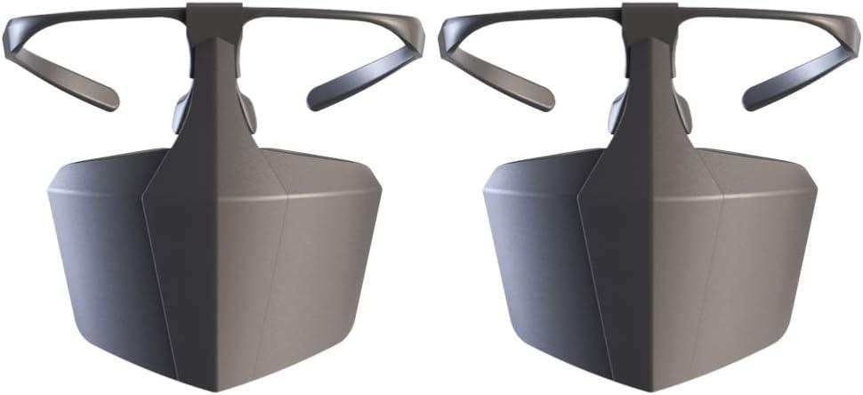 Milisten 2 Piezas Gafas Protectoras Gafas de Seguridad Máscara Facial Máscaras Protectoras de Plástico Protección Ocular Gafas Antisaliva Antivaho Máscara de Cubierta Facial (Negro)