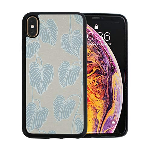 FAJRO Big Leave Cirrus Pattern iPhone Xs Max Case Apple Phone Case for iPhone Xs Max iPhone Xs Max Case for Women