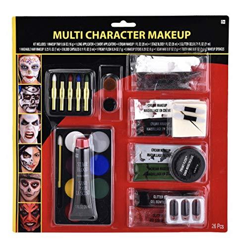 Amscan costume Multi Character Makeup Kit, Multicolor -