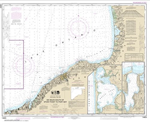 Stony Bay (NOAA Chart 14803-Six Miles south of Stony Point to Port Bay; North Pond; Little Sodus Bay-PAPER)