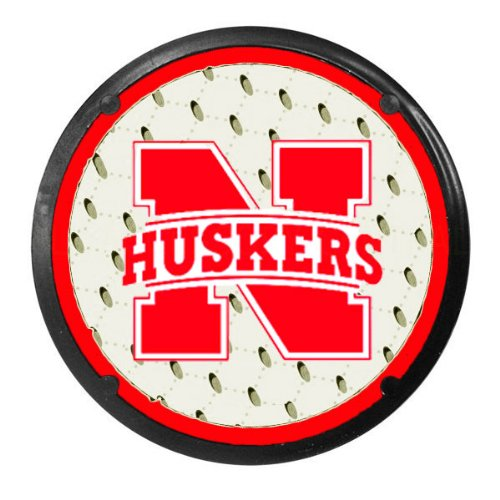 (Two Officially Licensed NCAA Coaster Air Fresheners - Nebraska Cornhuskers)