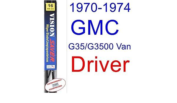 Amazon.com: 1970-1974 GMC G35/G3500 Van Wiper Blade (Driver) (Saver Automotive Products-Vision Saver) (1971,1972,1973): Automotive