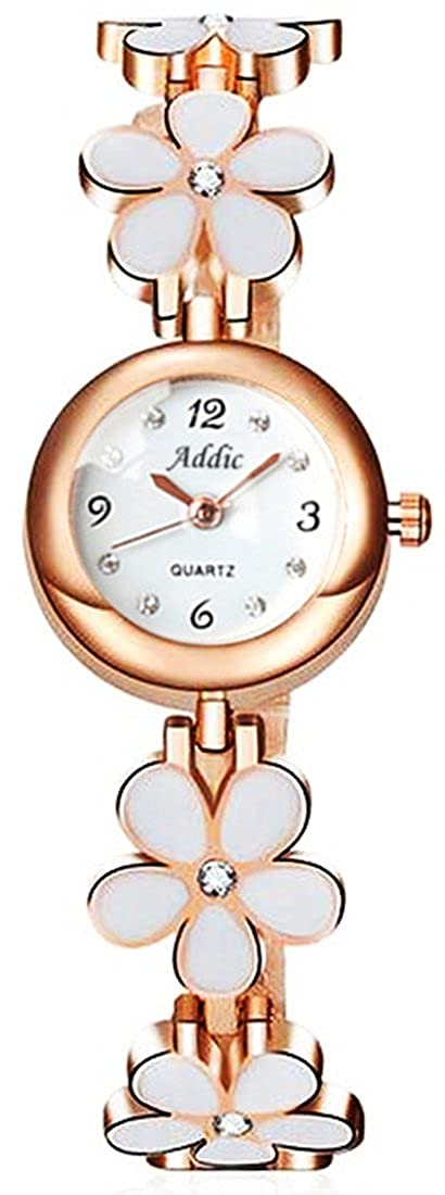 Addic Analogue Round White Dial Girl's & Women's Watch (Addicww467A)