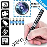 1080P Hidden Spy Camera Pen Wifi Camera Roller Ball Pen Loop Recording Plug and Play Video & Photo Recorder with 10 Pcs Black Rerill,2 Pcs USB Cable,SD Card Reader,Pen Clip,Max Support 32G TF Card