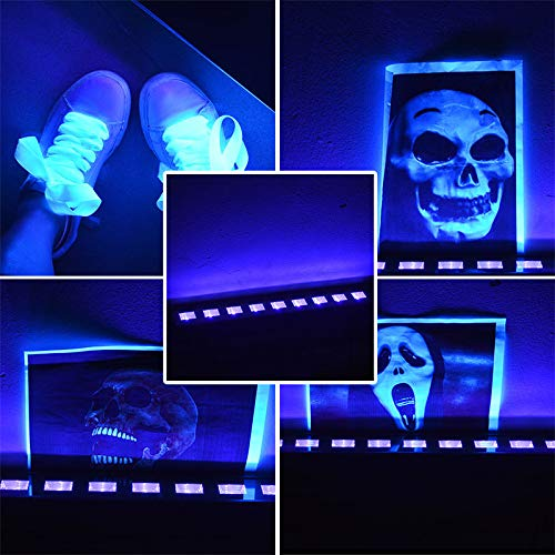 Morsen Black Lights with 3W x 9 LEDs UV Bar for Party, Costume Ball, and Masquerade