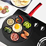 Griddle Pancake Pan Molds for Kids Nonstick Pancake Griddle Crepe Pan with 7 Animal Shapes - Black