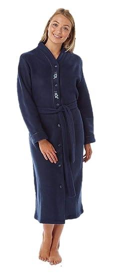 2350a2b6e5c78 Lady Olga - Peignoir - Femme * Taille Unique - Bleu - 40-42: Amazon.fr:  Vêtements et accessoires