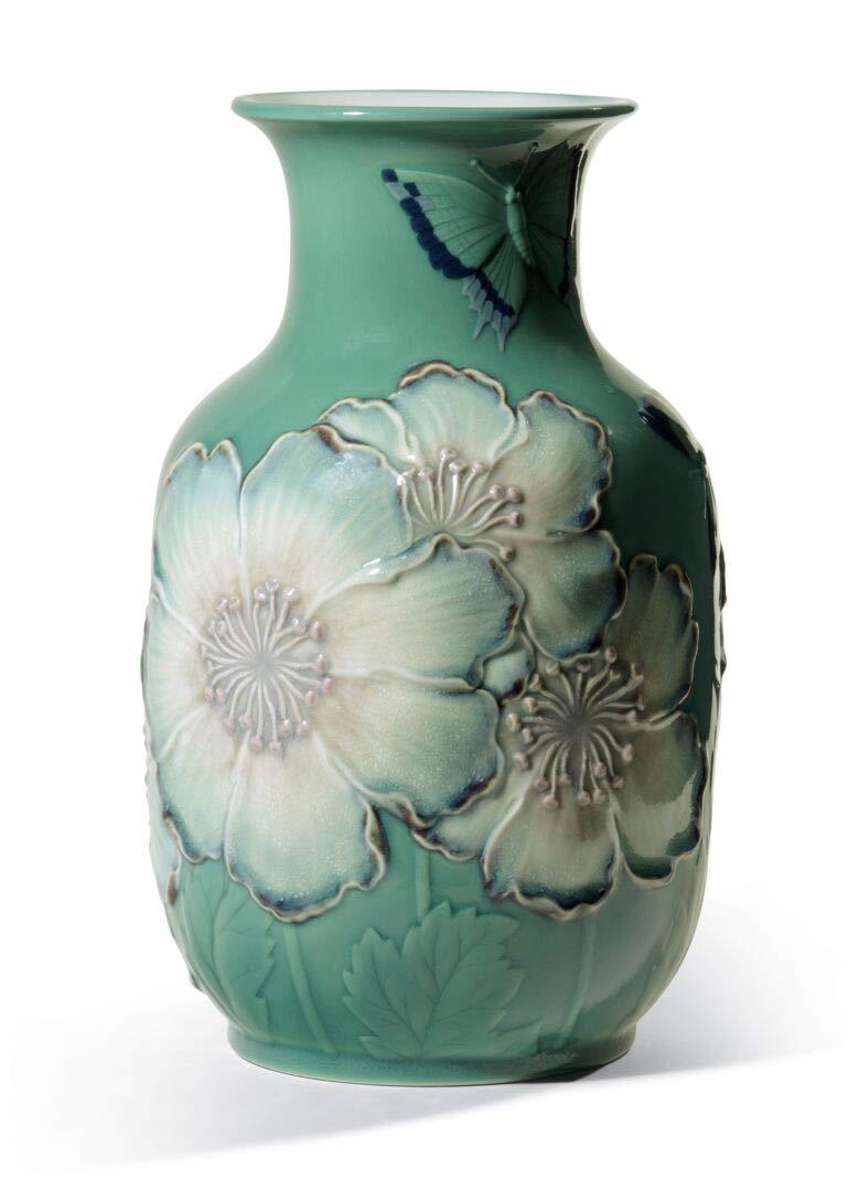 リヤドロ (Lladro) 花瓶ポピー(グリーン高) 01008648 B006X4OUJE