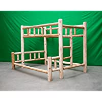 Midwest Log Furniture - Premium Log Bunkbed - Twin Over Queen