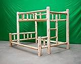 Midwest Log Furniture – Premium Log Bunkbed – Full Over Queen