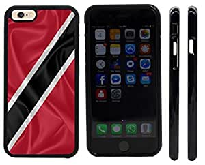 chen-shop design Rikki KnightTM Trinidad and Tobago Flag Design iPhone 6 Case Cover (Black pc with front bumper protection) for Apple iPhone 6 high quality