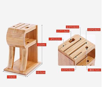 MOOMDDY & Bamboo Porta coltelli in Legno Porta Utensili da Cucina ...