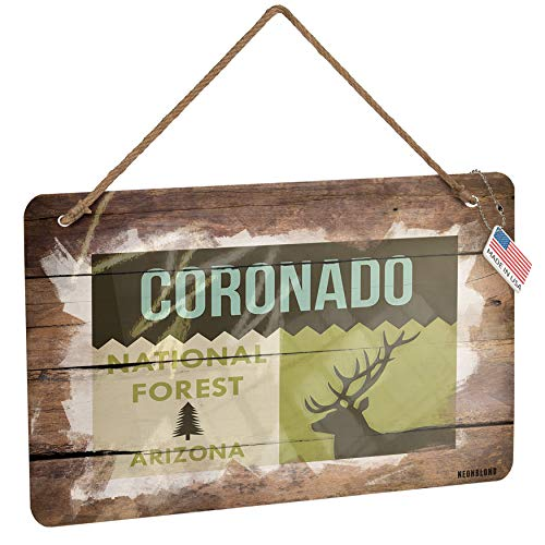 (NEONBLOND Metal Sign National US Forest Coronado National Forest Christmas Wood Print)