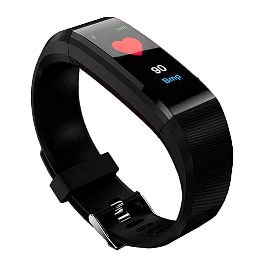Denret3rgu Reloj Inteligente Deportivo ID115 Plus Podómetro Impermeable Rastreador de Ejercicios Pulsera - Negro: Amazon.es: Relojes