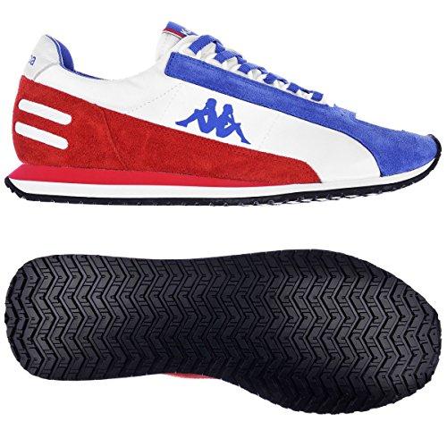 Kappa AUTHENTIC LA84 US MEDAL Chaussures Sneakers Unisexe Blanc Bleu Rouge