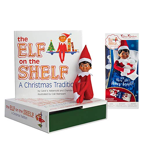 The Elf on the Shelf: A Christmas Tradition Boy Scout Elf (Brown Eyed) with Claus Couture Collection Scout Elf Slumber -