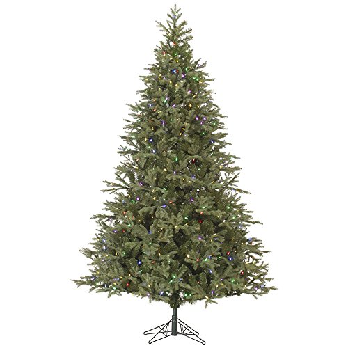 Vickerman Elk Frasier Fir Artificial Christmas Tree with 700 Multi-Colored LED Lights, 7.5' x 56