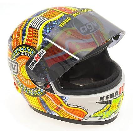 AGV Valentino Rossi MotoGP 2007 Phillip Islandia 2007 casco Conductor 1: 2 Minichamps: Amazon.es: Juguetes y juegos