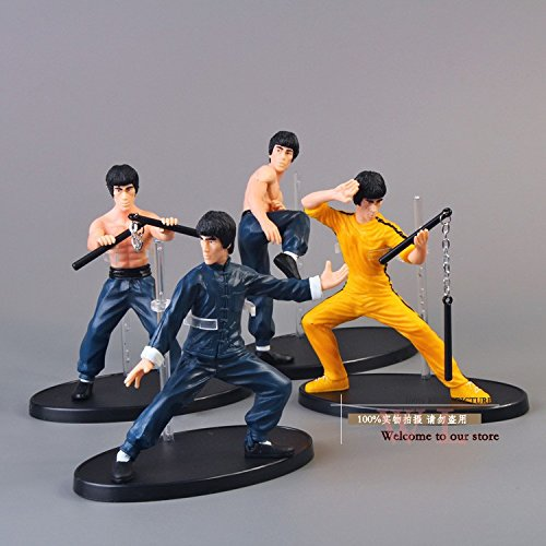 4pcs/set Kung Fu Master Bruce Lee PVC Action Figure Collection - Sunglasses Bruce Lee