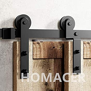 Amazon Com Homacer Sliding Barn Door Hardware Single
