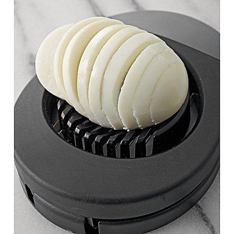SALT Egg Slicer in Black, Soft Handle, Stainless Steel Blades | 8-1/2
