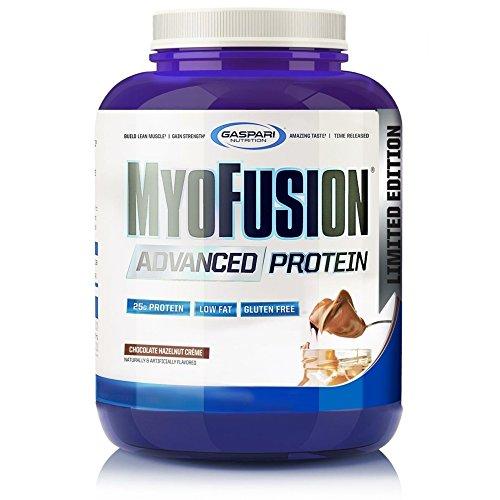 - Gaspari Nutrition MyoFusion Advanced Protein, Chocolate Hazelnut Creme, 4 Pound