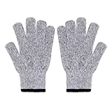 JSHANMEI Cut Resistant Gloves, Protective Gloves to Secure Your hands from Scrapes, Cuts in Kitchen, Wood Carving, Carpentry and Dealing with Broken Glass,Etc (Medium(8ft)-1pair)