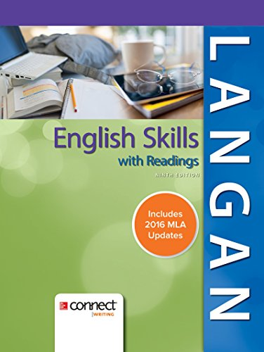 English Skills With Readings,2016 Mla
