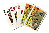 Comical Military Cartoon - Drill Sergeant Telling Soldier to Get Up out of Bed (Playing Card Deck - 52 Card Poker Size with Jokers)