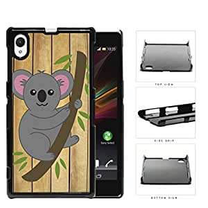 Koala Bear Hanging From Tree Branch Hard Plastic Snap On Cell Phone Case Sony Xperia Z1