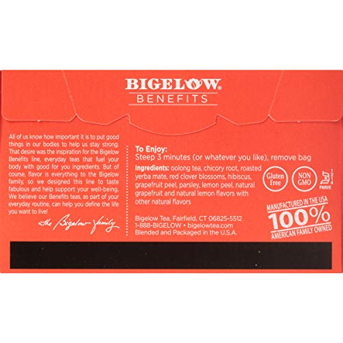 Bigelow Benefits Lean and Fit Citrus & Oolong Tea Bags, 18 Count Box (Pack of 6), Caffeinated 108 Tea Bags Total 4