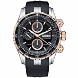 Edox Men's 'Grand Ocean' Swiss Automatic Stainless Steel and Rubber...