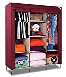 Anva R & B Folding Wardrobe Non Woven Cloth Light And Trendy A3 Color May Vary