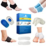 Plantar Fasciitis Foot Sleeve Kit (Pack of 14) - For Instant Foot Pain Relief - Heel & Arch Support, Compression Socks, Heel Pads & Grips, Heel Cups, Shoe Inserts And Shoe Insoles For Metatarsal Pain