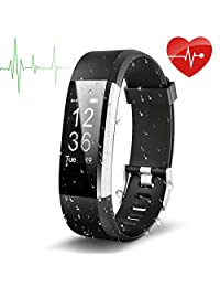 EletePro V07 Sport Waterproof Fitness Tracker Smart Watch, Wristband Heart Rate and Blood Press Monitor, Pedometer Bluetooth 4.0 Wireless Bracelet Touch Screen Activity Tracker For iPhone Android And More Smartphones