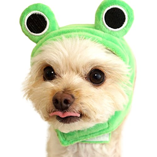 Costume Panda Cat (Pet Dog Hat with Rabbit Ears or Frog or Panda for Pet Cat Party Costume Accessory Headwear Frog)