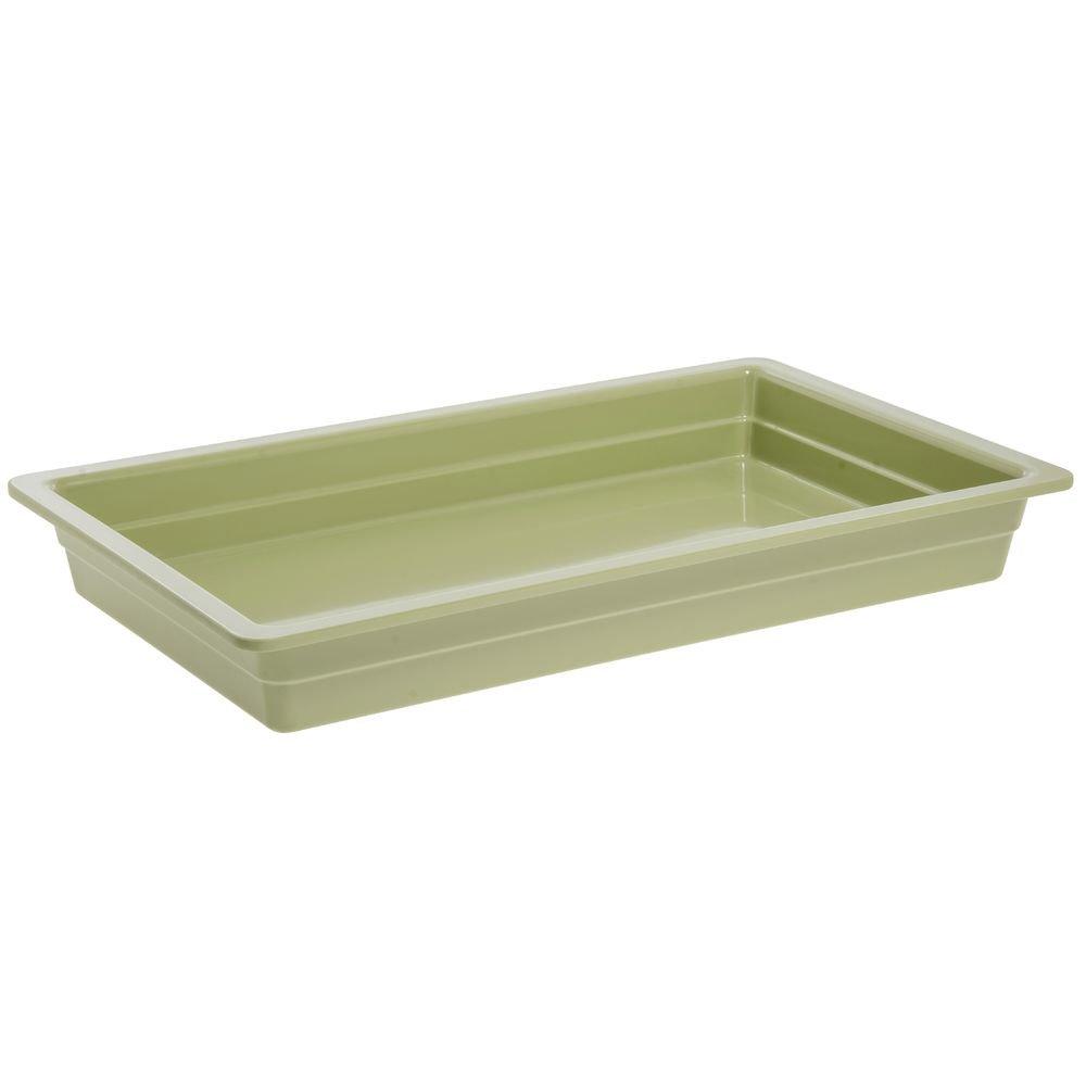 Cold Food Bar Pan Full SizeWillow Green Melamine - 20 3/4 L x 12 3/4 W x 2 1/2 H