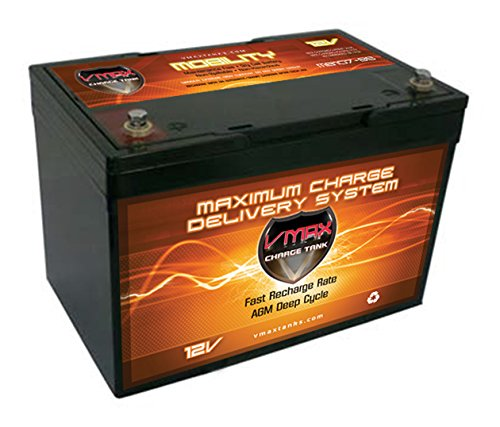 VMAXMB107 AGM Group 24 Deep Cycle Battery Replacement for Carter GP24 12V 85Ah Wheelchair Battery