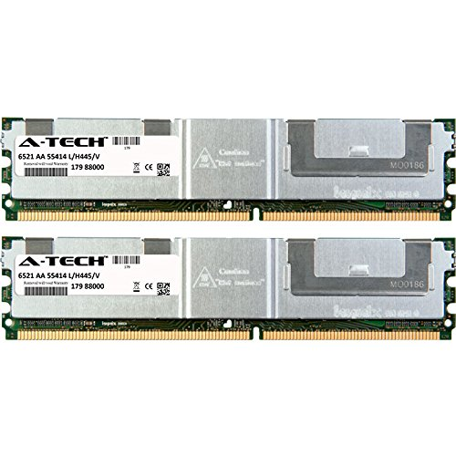 A-Tech 8GB KIT (2 x 4GB) For HP-Compaq ProLiant Series BL20p G4 BL460c BL460c G4 Blade BL460c G5 BL460c Server Blade BL480c Server Blade BL680c. DIMM DDR2 ECC Fully Buffered PC2-5300 667MHz RAM Memory