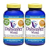 Appliances Dishwashers Best Deals - FAMILY SIZE - Dishwasher Wizard Dishwasher Additive Works with Your Dishwasher to Remove Hard Water Spots and Film and Eliminates Dishwasher Odor - Super Concentrated Citrus Scent - Cleans, Deodorizes and Maintains for up to 20 Loads - 1 Pound Jar (Set of