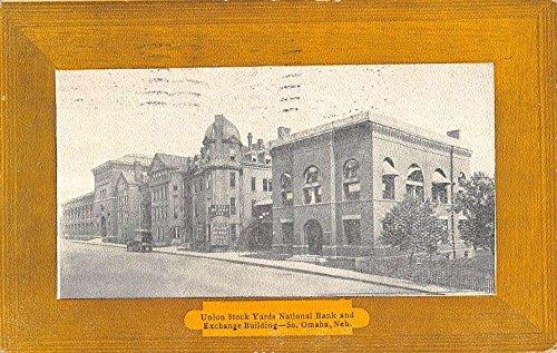 Omaha Nebraska Union Stock Yards Bank Street View Antique Postcard K57183