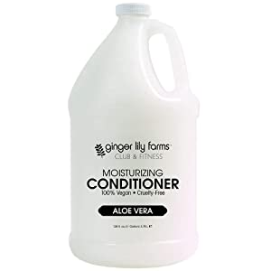 Ginger Lily Farms Club & Fitness Aloe Vera Moisturizing Conditioner, 100% Vegan, Paraben, Sulfate, Phosphate, Gluten & Cruelty-Free, 1 Gallon