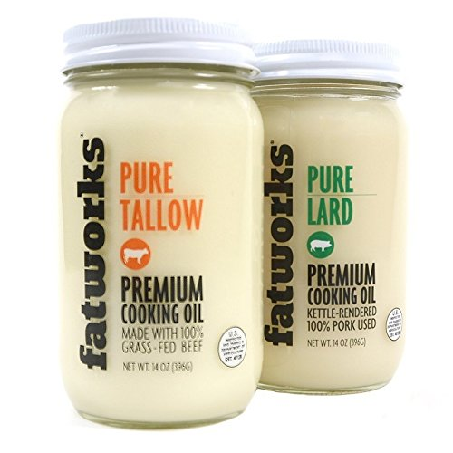 Fatworks Pastured Lard & Tallow Combo Pack - 14 oz Each by Fatworks