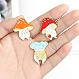 Enamel Pin Brooches Cute Mushroom Lapel Badge