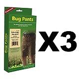 Coghlan's Bug Pants XL Black Unisex Flame Retardant Lightweight Net (3-Pack)