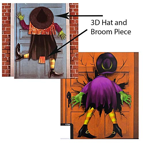 RDC Halloween Crashed Witch Door Covers with 3D Pieces - Set of -