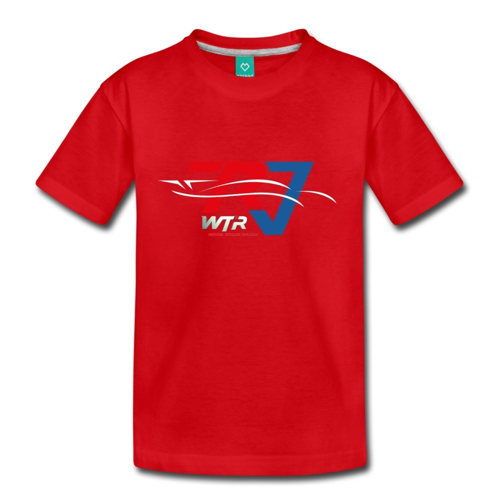 ATHLETE ORIGINALS Toddler Premium T-Shirt Wtr Racing Profile by Ricky & Jordan Taylor Youth 4T Red