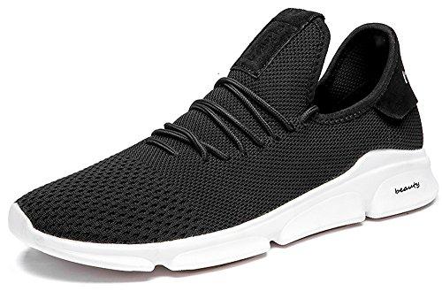 7-PORTANT Herren Sportschuhe Sneaker Laufschuhe 39-48 1#schwarz